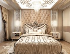 Спальня - Architecture and Home Decor - Bedroom - Bathroom - Kitchen And Living Room Interior Design Decorating Ideas - Hotel Room Design, Luxury Bedroom Design, Luxury Interior, Interior Design, Elegant Home Decor, Elegant Homes, Design Case, Bed Design, Bedroom Sets