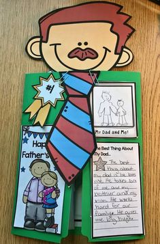 Father's Day Lap Book Craft for Kids to Make Father's Day Activities, Summer Activities For Kids, Holiday Activities, Father's Day Diy, Dad Day, Fathers Day Crafts, Crafts For Kids To Make, Book Crafts, Kid Crafts