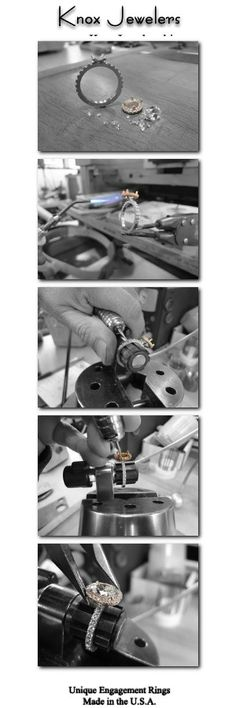 Designing your own engagement ring is an exciting and memorable process. It's a way for you and your loved one to share something totally unique and one-of-a-kind, a true symbol of your love. Our design process brings you directly in contact with our award winning designers and master jewelers along every step of the custom process. For more information on these custom rings, click on pin.