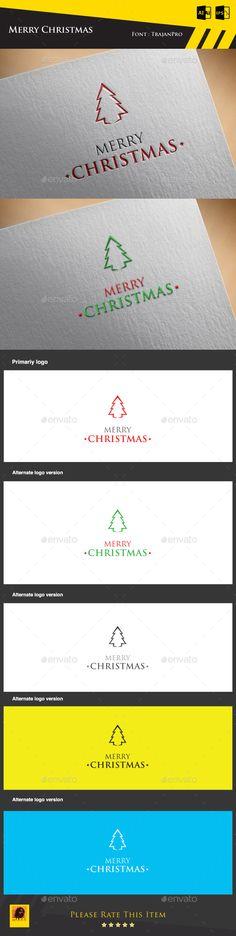 Merry Christmas Logo Template - Symbols Logo Templates