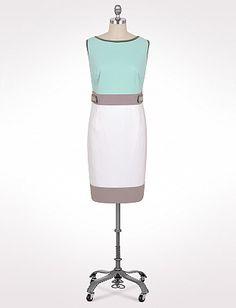 Plus Size Colorblock Button Tab Sheath | Dressbarn