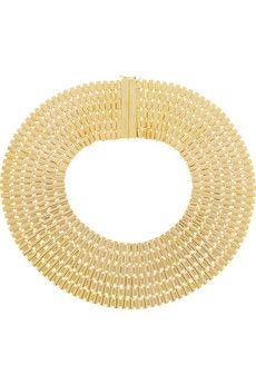 Rosantica Cleopatra gold-dipped necklace | NET-A-PORTER