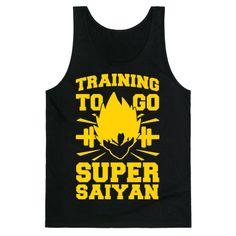 Training to Go Super Saiyan | T-Shirts, Tank Tops, Sweatshirts and Hoodies | HUMAN