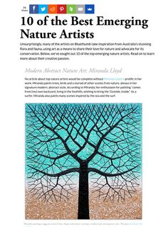I am very excited to be one of Australia's largest online art galleries Bluethumb's  top 10 Best Emerging Nature Artists. Bluethumb represent over 8,000 Australian Artists.  For the full story please visit their website blog. https://bluethumb.com.au/blog/artists/best-emerging-nature-artists/