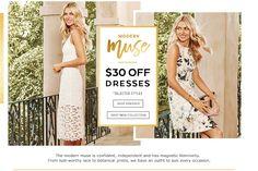 $30 Off Selected Dresses @ Portmans - Bargain Bro