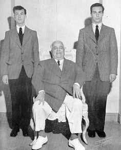 His Royal Highness is seen here as a happy grandfather with Prince Karim Aga Khan and Prince Amyn Mohammed, the two sons of Prince Alykhan, *1952*