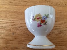 Flower egg cup. Foreign.