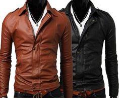 #MensJackets:Handmade Men Black leather Jacket Men leather by ukmerchant