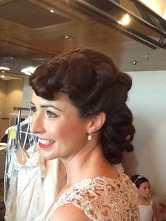 Classic waves,brides,fashion,hair up.