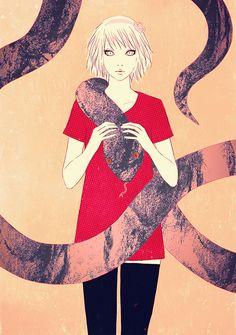 Snake #illustration #イラストレーション