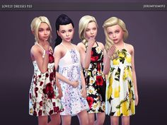 Lovely Dresses Collection P.03 for girls Found in TSR Category 'sims 4 Female Child Everyday'