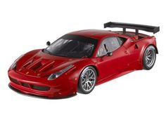 This Ferrari 458 Italia GT2 Presentation Diecast Model Car is Red and features working steering, suspension, wheels and also opening bonnet, boot with engine, doors. It is made by Mattel and is 1:18 scale (approx. 25cm / 9.8in long).    The 458 Italia GT2 made its debut at the Sebring 12-Hour race, the opening round of the prestigious American Le Mans Series and Intercontinental Le Mans Cup. This new V8-powered sports car is based on the 458 Italia and was developed by Ferrari in conjunction…