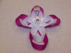 Ribbon Sculpture Cross Pin