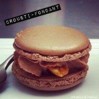 Macarons chocolat nougatine