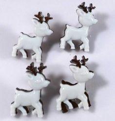Botões rena de natal