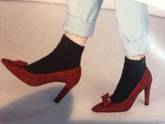 Burgundy shoes LK Bennett