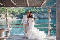 Isabelle O'Connor-Lauricourt wearing Vauderville Wedding Dress by Ian Stuart