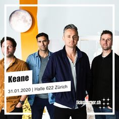 Keane - Cause and Effect Tour Halle, Ticket, Ab Sofort, Pop Rocks, Album, Movie Posters, Movies, Films, Hall