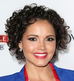 Susie Castillo looked cute and chic with this short curly 'do at the Hollywood Hot List party.