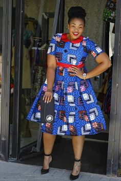 Online Hub For Fashion Beauty And Health: Elegantly Fabulous Ankara Midi Gown Style For The . African Inspired Fashion, African Print Fashion, Africa Fashion, African Print Dresses, African Fashion Dresses, African Dress, African Prints, African Attire, African Wear