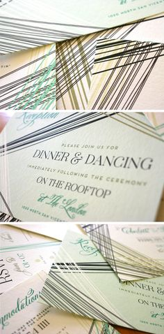 Parker Wedding Invitations by Mountain Paper