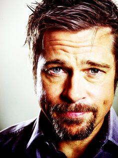 brad pitt - He's so gorgeous when he's all disheveled, I don't like the pretty boy brad, I'm all for the Fight club Brad. - D.S.