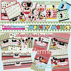 Mickey Mouse Decoraciones De Fiesta Para Imprimir, Candy Bar