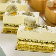 Burch and Purchese Vanilla, Pistachio, Lemon and Green Tea Cake