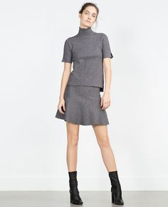 Image 1 of FUNNEL COLLAR TOP from Zara