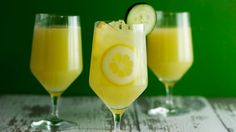 Andrew Zimmern's Cucumber-Mint Lemonade Recipe - Just add your favorite alcohol. I like vodka or white wine.