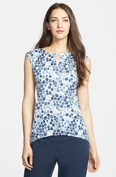 Nordstrom Collection 'Darlington' Print Stretch Silk Top available at #Nordstrom