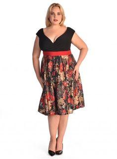Adelle Dress in Ruby