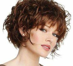 Kurze bob Frisuren für lockiges Haar