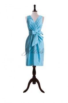 Bow Taffeta  Bridesmaid Dress by zlassdresses on Etsy