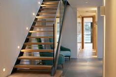 Browse hall, corridor and stair lighting images to see how to add impact with advise and light fittings from John Cullen Lighting, the lighting experts. Corridor Lighting, Stair Lighting, Lighting Design, Staircase Interior Design, Stair Detail, Floating Stairs, Stairway To Heaven, Light Architecture, Light Fittings