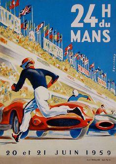 ... Mans 24 Hours Vintage Poster Vintage Art Print Retro Style Vintage Car  Auto Racing Advertising Free US Post Low EU post by VintagePosterPrints on  Etsy c377b399e