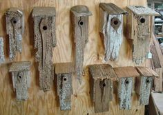 repurposed wood clock | 20+ Stunning Bird Houses – A collection of beautiful Birdhouses