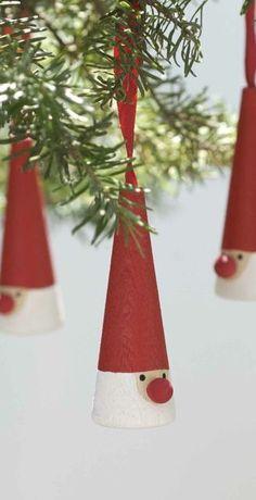 Tomte Wooden Ornament _ scandinavian stitches