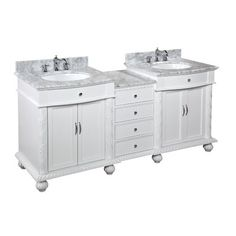 """Kitchen Bath Collection Buckingham 72"""" Double Bathroom Vanity Set"""