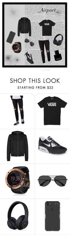 """Airport2"" by sakura777 on Polyvore featuring Topman, Vans, Wooyoungmi, NIKE, Suunto, EyeBuyDirect.com, Beats by Dr. Dre, Under Armour, Kenneth Cole и men's fashion"