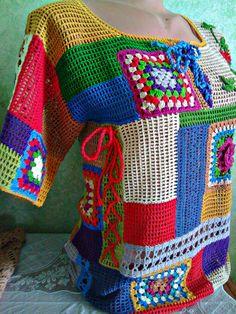 Compañeros de clase – Knitting patterns, knitting designs, knitting for beginners. Crochet Tank Tops, Crochet Blouse, Crochet Poncho, Crochet Scarves, Crochet Clothes, Easy Crochet, Knit Crochet, Knitting Designs, Knitting Patterns