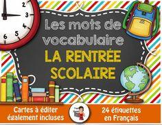 24 mots-étiquettes de la rentrée scolaire #backtoschool #frenchteacher #FSL