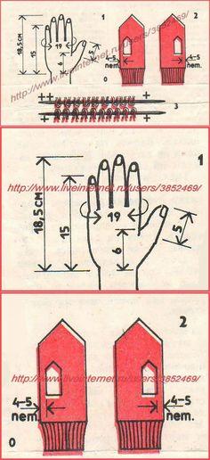 Как связать варежки на двух спицах