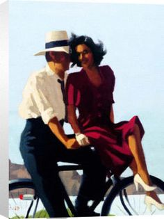 jack vettriano = bicycle built for two