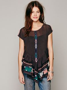 Free People Free People FP New Romantics Pinnacle Mesh Top, $149.95