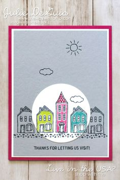 In the City stamp set by Stampin' Up! for Freshly Made Sketches 286 | 2017 hostess set sneak peek | 2017-2018 Annual Catalog | 2017-2019  In-Colors | The Way We Stamp | Julie DeGuia | rubber stamps | handmade cards