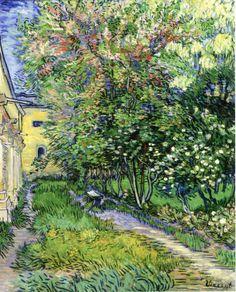"""Vincent Van Gogh - """"Le parc de l'hôpital, à Saint-Rémy"""" 1889, 73.0 x 92.5 cm, Meisterwerke des Museum Folkwang Essen."""