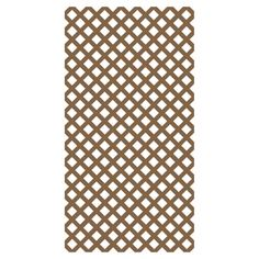 Barrette 0.2-in x 4-ft x 8-ft Redwood Tone Traditional Vinyl Lattice