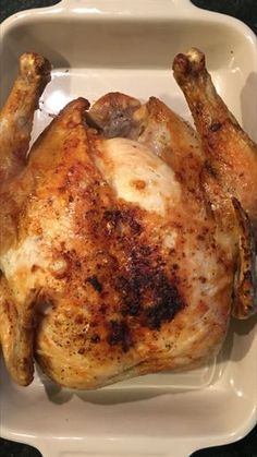 AIR FRYER WHOLE ROASTED CHICKEN Ingredients: Whole Chicken (about pounds) Olive Oil Seasoning (Salt, Pepper, Garlic Powder, Tony's Chachere) Directions: Wash chicken and then pat dry with paper… (drying herbs garlic powder) Air Fryer Oven Recipes, Air Frier Recipes, Air Fryer Dinner Recipes, Air Fryer Recipes Roast Chicken, Nuwave Air Fryer, Dry Fryer, Easy Cooking, Cooking Recipes, Instant Pot