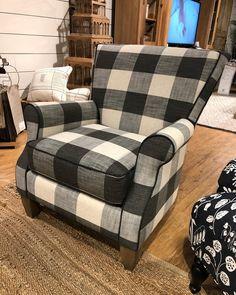Best Black And White Buffalo Plaid Accent Chair Blake Plaid 400 x 300
